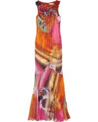 Matthew Williamson Matador Printed Silk-chiffon Gown - Lyst