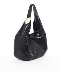 Michael Kors Michael Fulton Large Shoulder Bag Black Python - Lyst