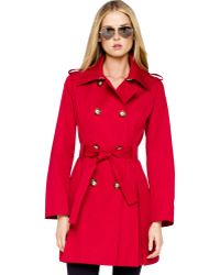 Michael Kors Michael Pleated Trench - Lyst