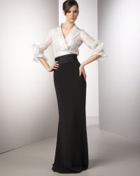 Redux Charles Chang-lima - Rosette-sleeve Organza Blouse - Lyst
