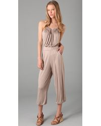 T-bags Jersey Jumpsuit - Natural