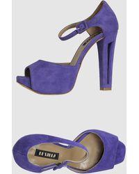 Le Silla Platform Sandals - Lyst