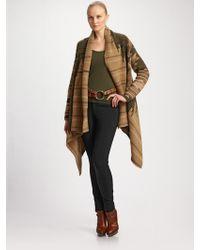 Ralph Lauren Black Label Oversized Cashmere/wool Blanket Coat - Brown