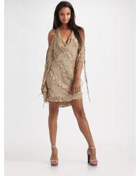 Haute Hippie Silk Halter Drape Dress - Lyst