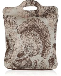 M Missoni Metallic Crochet-knit Tote Bag - Brown