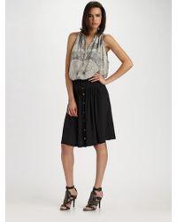 Leifsdottir - Silk Crepe Skirt - Lyst
