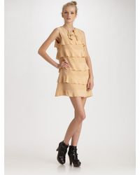 See By Chloé Ruffled Silk Crepe-de-chine Dress - Lyst