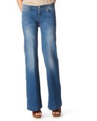 7 For All Mankind Dojo Skinny Flare Jeans - Lyst
