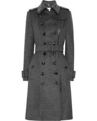 Burberry Wool and Cashmere-blend Trench Coat - Lyst