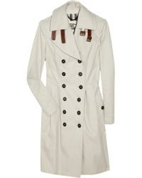 Burberry Leather-buckled Cotton Trench Coat - Lyst