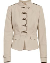 Burberry Prorsum Cotton-twill Military Jacket - Lyst