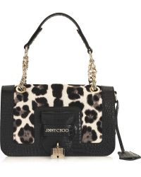 Jimmy Choo Gwen Leopard-print Calf Hair Shoulder Bag - Lyst