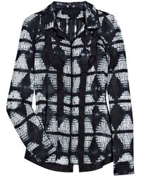 Proenza Schouler Tie-dye Cotton-voile Shirt - Lyst