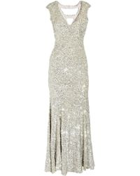 Rachel Gilbert Issy Sequined Silk Gown - Lyst