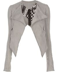 Gareth Pugh - Cropped Denim Jacket - Lyst