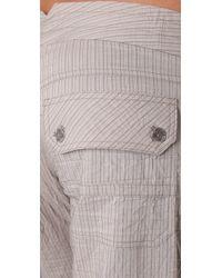 Georgie | St. Barts Metallic Stripe Pants | Lyst