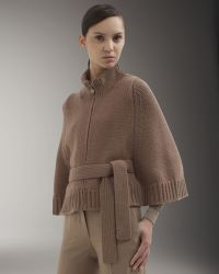 Akris Front-zip Belted Cape - Brown