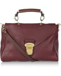 Mulberry Polly Push Lock Textured-leather Shoulder Bag - Lyst