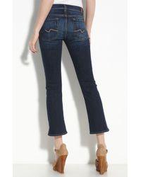 7 For All Mankind Crop Flare Leg Stretch Denim Jeans (cali Coast Wash) - Lyst