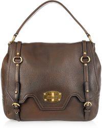 Miu Miu Textured-leather Shoulder Bag - Lyst