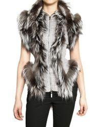 Alexander McQueen Silver Fox Hand Woven Tweed Vest gray - Lyst