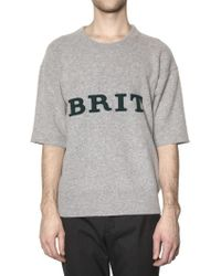 Burberry Prorsum Brushed Wool Brit Sweater - Lyst