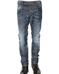 DSquared² 17cm Cool Guy Dirtied Denim Jeans - Lyst