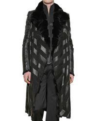 Gareth Pugh - Orylag Inlay Fur Coat - Lyst
