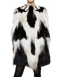 Giambattista Valli Patchwork Cape Fur Coat - Lyst