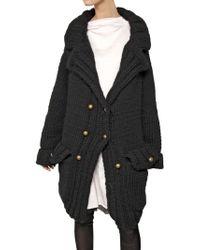 Nina Ricci Oversized Wool Knit Coat - Lyst