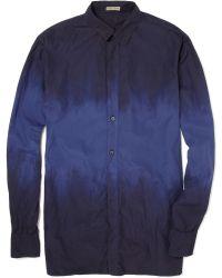 Bottega Veneta Dip Dyed Cotton Shirt - Blue