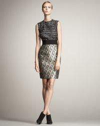 Giambattista Valli Combo Tweed Dress - Lyst