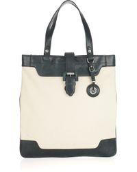 Belstaff - Selma Leather-trimmed Canvas Bag - Lyst
