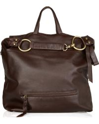 Foley + Corinna Slouchy Textured-Leather Hobo - Brown