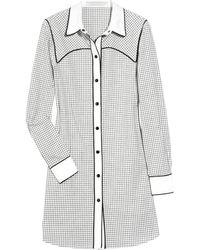 Proenza Schouler Checked Cotton Shirt Dress - Lyst