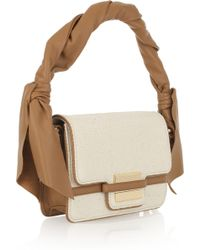 Z Spoke by Zac Posen Twist-strap Canvas and Leather Bag - Natural