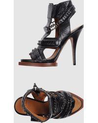 Givenchy Black Leather And Lace Richelieu Decolletã©