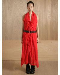Yohji Yamamoto Yohji Yamamoto Womens Lace Up Stole Dress - Lyst
