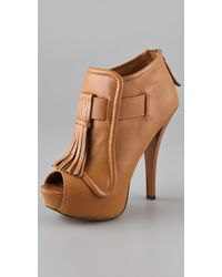L.A.M.B. | Nathan Leather Stiletto Booties | Lyst