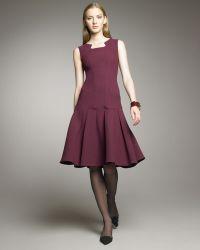Oscar de la Renta Seamed Drop-waist Dress - Lyst