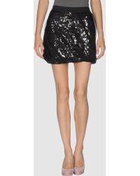 Diesel Black Gold Mini Skirt - Lyst