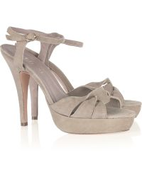 SuperTrash | Fortunate Suede Platform Sandals | Lyst