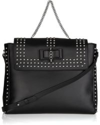 Christian Louboutin Sweet Charity Optic Studded Leather Messenger Bag - Lyst