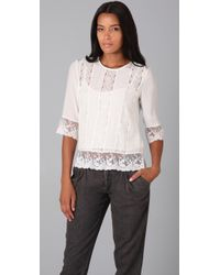 Gryphon - Lace Top - Lyst
