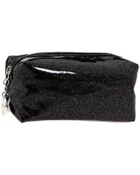 Juicy Couture Glitter Small Cosmetic Bag - Black
