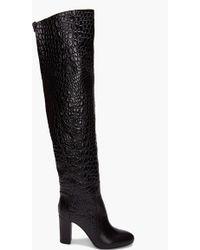 Viktor & Rolf Lizard Thigh-high Boots - Black