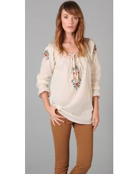 Beyond Vintage Embroidered Blouse - Lyst