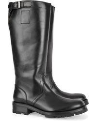 Jil Sander Leather Knee Boots - Black