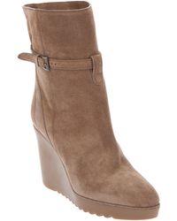 Chloé Wedge Boot - Brown