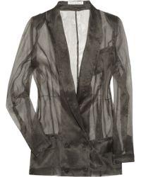 Twenty8Twelve Kanan Silk-organza Jacket - Grey